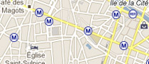 Paris metro on Googlemaps