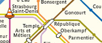 Paris subway interactive map
